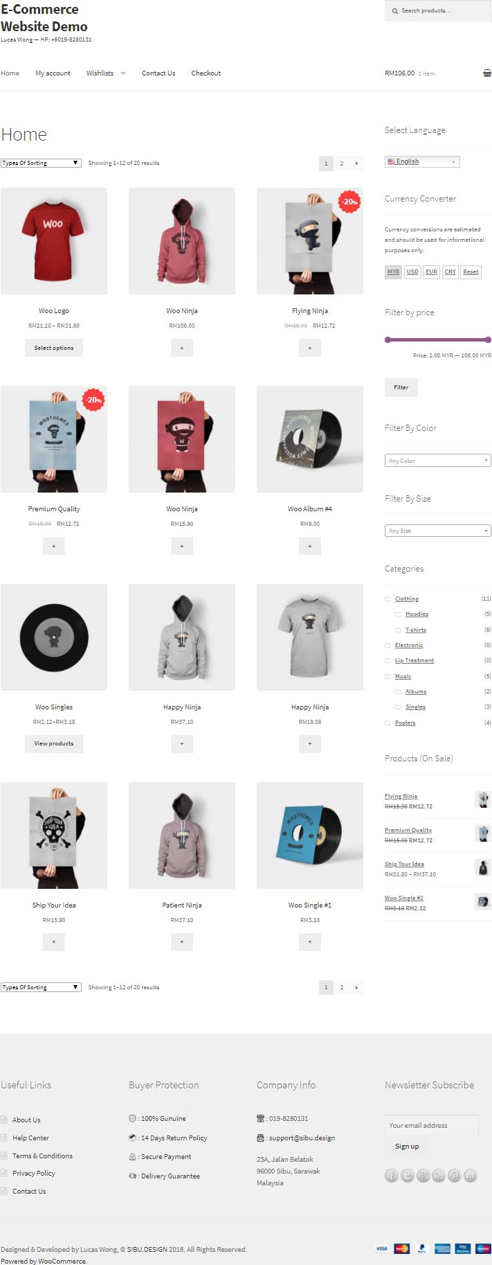eCommerce Website Demo 1