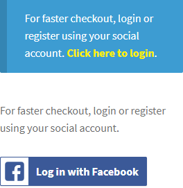 Social Login For Checkout And Account Creation